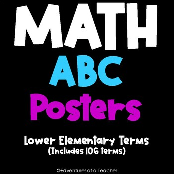 Math ABC Posters (Includes 82 vocabulary terms)