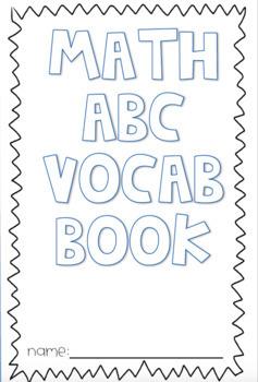 Math ABC Vocabulary Book