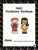 Math  ABC Vocabulary Notebook
