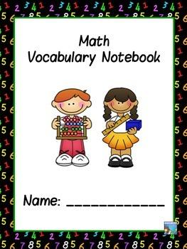 Math  ABC Vocabulary Notebook