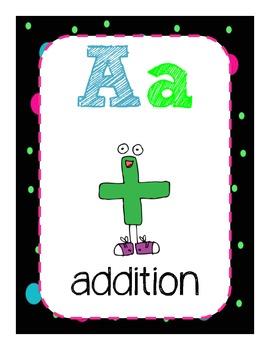 Math ABC cards