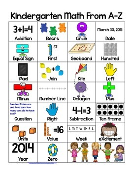 Math ABCs for Kindergarten