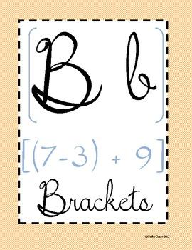 Math ABC's with Vocabulary
