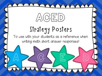 Math ACED Strategy Posters