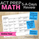 Math ACT Prep - 5-A-Days Basic Math Skills Review -- Full