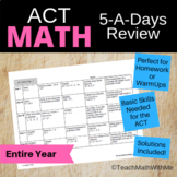 Math ACT Prep - 5-A-Days Basic Math Skills Review -- Full