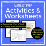 Math ACT Prep Activities and Worksheets BUNDLE - ACT Math Skills