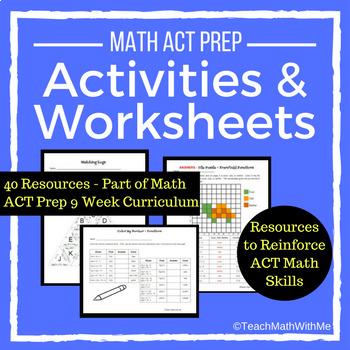 Math ACT Prep Activities and Worksheets - ACT Math Skills
