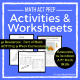 Math ACT Prep Activities and Worksheets - ACT Math Skills