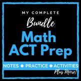 Math ACT Prep BUNDLE - Curriculum, Worksheets, Math Movies, & Slides