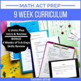 Math ACT Prep Curriculum BUNDLE - Lesson Plans and Resources