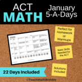 Math ACT Prep - January 5-A-Days Basic Math Skills Review
