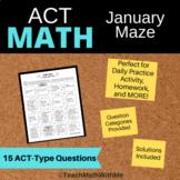 Math ACT Prep - January Math Maze Worksheet - ACT Math Monthly