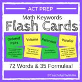 Math ACT Prep Keywords FLASH CARDS - ACT Math Prep