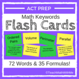 Math ACT Prep Keywords FLASH CARDS - ACT Math Prep