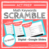 Math ACT Prep Keywords SCRAMBLE Digital Worksheets - Googl
