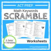 Math ACT Prep Keywords SCRAMBLE Worksheets