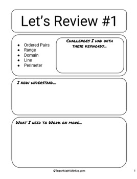 Math ACT Prep Keywords Workbook - Definitions with Example Questions - 72 Words