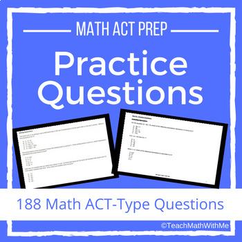 Math ACT Prep Practice Questions BUNDLE - ACT Math Skills