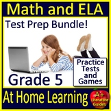 At Home Learning ELA & Math Test Prep 5th Grade with Distance Learning Tutorial