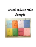 Back-to-School Project:          Math About Me!