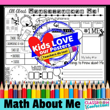Math About Me: A Back to School Math Activity