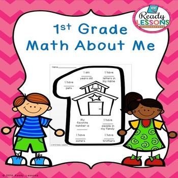 Free Math About Me 1st Grade