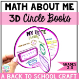 Math About Me -3D Circle Books - Back to School Math Craft