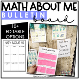 Math About Me Open House, Bulletin Board, and Station Activity
