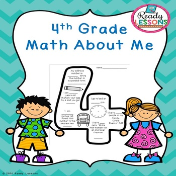 Free Math About Me 4th Grade