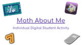 Math About Me First Day of School Google Slides™ Activity