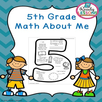 Free Math About Me 5th Grade All About Me Worksheet