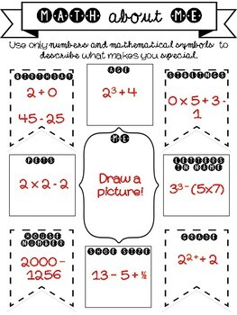 Math About Me Activity {Perfect for Back-to-School or Open House!}