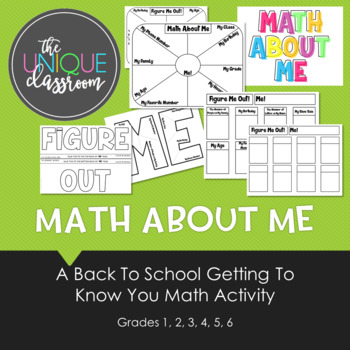 Math About Me - A Back to School Getting to Know You Math Activity