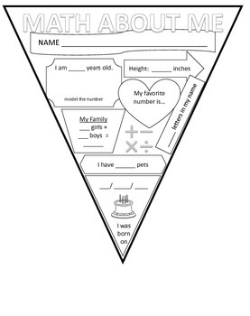 Math About Me Banner Pennant