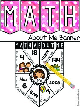 Math About Me Banner EDITABLE