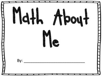 Math About Me Book