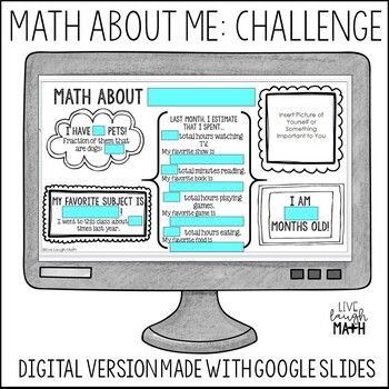 Math About Me: Challenge