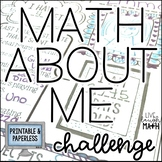 Math About Me Challenge