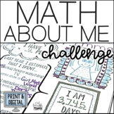 Math About Me Challenge- Distance Learning
