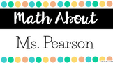 Math About Me | Google Classroom