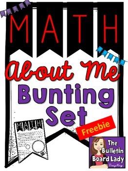 Math About Me FREEBIE