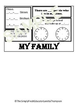 All About Me Math Flip Book
