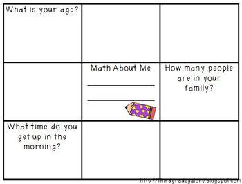 Math About Me - Freebie