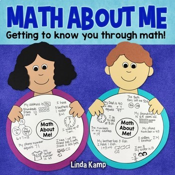 Math About Me-All About Me Math Craft