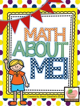 Math About Me Lessons to Supplement Morning Meeting (Primary Colors)