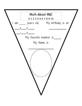 Math About Me Pennant