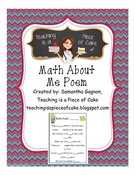 Math About Me Poem
