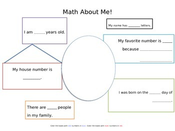 Math About Me Poster