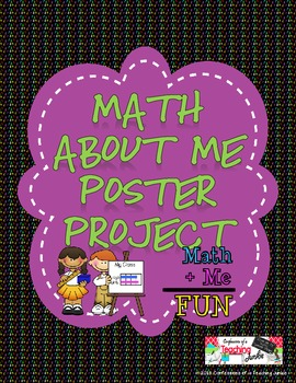 Math About Me Poster Project